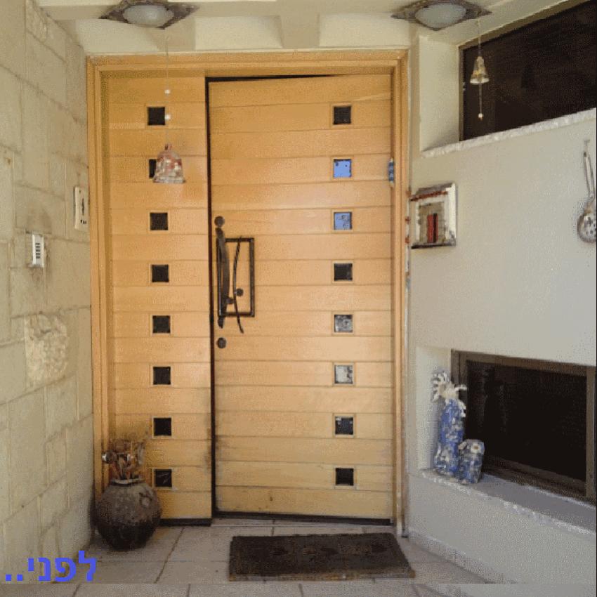 החלפת דלתות עץ – מצפה עדי