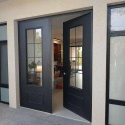 דגם חלון צרפתי דלתות קו אפס