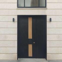 דלתות כניסה FOX שחור-עץ