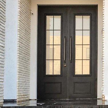 דלתות קו אפס בית קורנפלד חלון צרפתי
