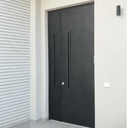 דלת אלומיניום דגם BAR ידית שקועה
