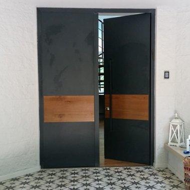 דלת קו אפס שילוב עץ W