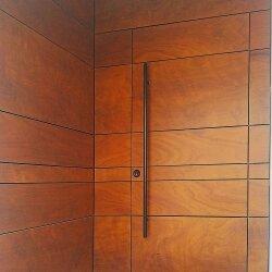 דלת קו אפס וחיפוי קיר HPL