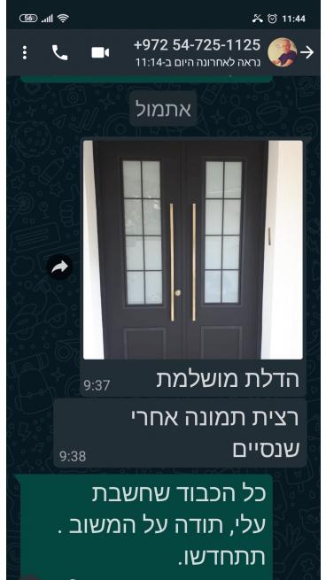 מרוצה מדלת הכניסה