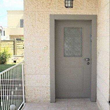 דלת כניסה ALGIR אפור בהיר 7333